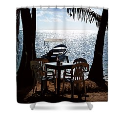 Seaside Dining Shower Curtain