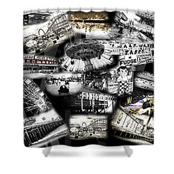 Shower Curtain featuring the photograph Seaside Funtown by John Rizzuto