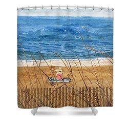 Seaside In Massachusetts Shower Curtain