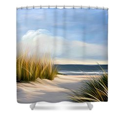 Seaside Path Shower Curtain by Anthony Fishburne