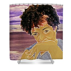 Seaside Pondering Shower Curtain