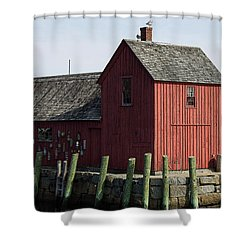 Seaside Shed Shower Curtain