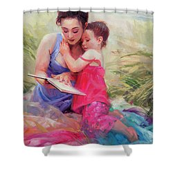 Seaside Story Shower Curtain
