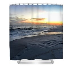 Shower Curtain featuring the photograph Seaside Sunset by Renee Hardison