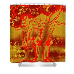 Seasonal Mystery Shower Curtain