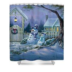 Season's Greeters Shower Curtain