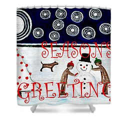 Seasons Greetings 14 Shower Curtain by Patrick J Murphy