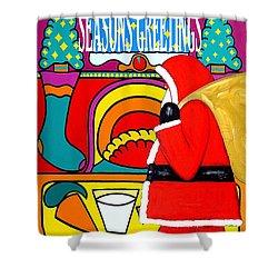 Seasons Greetings 16 Shower Curtain by Patrick J Murphy