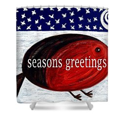 Seasons Greetings 4 Shower Curtain by Patrick J Murphy