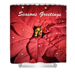 Seasons Greetings Shower Curtain by Terence Davis