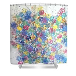 Seasponge Shower Curtain by Judi Goodwin