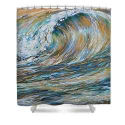 Seaspray Gold Shower Curtain