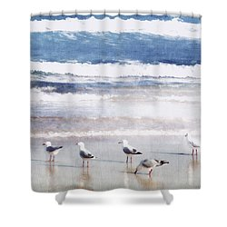 Seaspray Shower Curtain by Holly Kempe