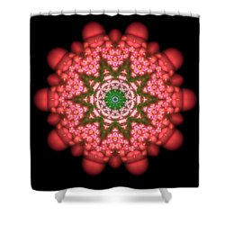 Shower Curtain featuring the digital art Seastar Lightmandala  by Robert Thalmeier