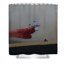 Seat Drops On Indian Canyon Fire Shower Curtain
