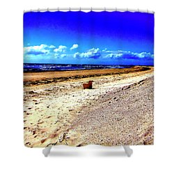 Seat For One Shower Curtain by Douglas Barnard