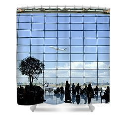 Seatac Airport K088 Shower Curtain by Yoshiki Nakamura