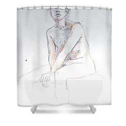Seated Study 2 Shower Curtain