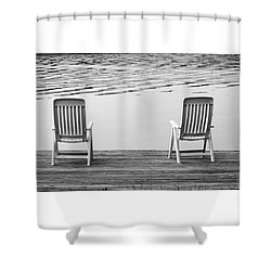 Seating For Two Shower Curtain