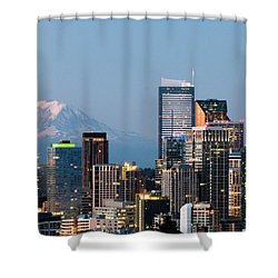 Seattle At First Light II Shower Curtain