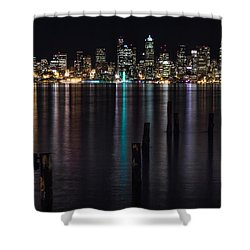 Seattle At Night Shower Curtain