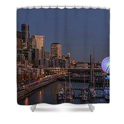 Seattle Autumn Nights Shower Curtain
