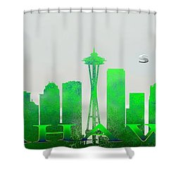 Seattle Greens Shower Curtain