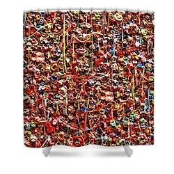 Seattle Gum Wall 2 Shower Curtain by Allen Beatty