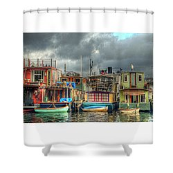 Seattle Houseboats Fine Art Photograph Shower Curtain