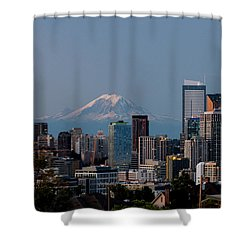 Seattle-mt. Rainier In The Morning Light .1 Shower Curtain