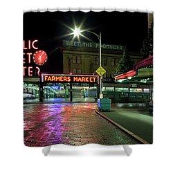 Seattle Public Market 1 Shower Curtain