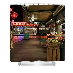 Seattle Public Market 2 Shower Curtain