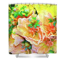 Seattle Public Market Flowers Shower Curtain