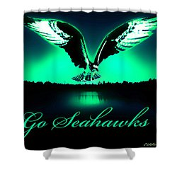 Shower Curtain featuring the photograph Seattle Seahawks by Eddie Eastwood