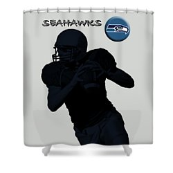 Seattle Seahawks Football Shower Curtain by David Dehner