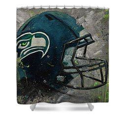 Seattle Seahawks Football Helmet Wall Art Shower Curtain