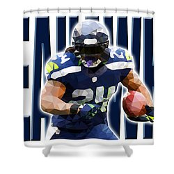 Shower Curtain featuring the digital art Seattle Seahawks by Stephen Younts