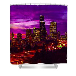 Seattle Shades Of Purple Shower Curtain