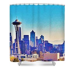 Seattle Sky Shower Curtain