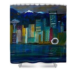 Seattle Skyiline Shower Curtain