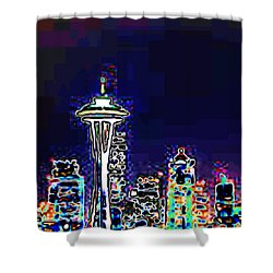 Seattle Skyline Shower Curtain by Tim Allen