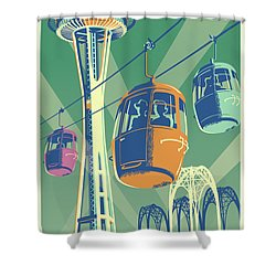 Seattle Space Needle 1962 - Alternate Shower Curtain