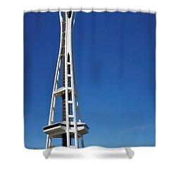 Seattle Space Needle Shower Curtain by Adam Romanowicz