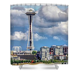 Seattle Space Needle Hdr Shower Curtain