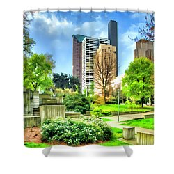 Seattle Spring Fine Art Print Shower Curtain
