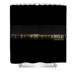 Seattle Washington Skyline From Alki Seacrest Park At 10mm Shower Curtain