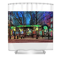 Seattle's Iron Pergola Shower Curtain