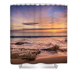 Seaview Sunrise. Shower Curtain