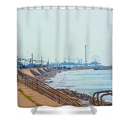Seawall Blvd Shower Curtain