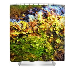 Seaweed Grunge Shower Curtain by Todd Breitling